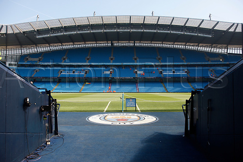 April 8th 2017, Etihad Stadium, Manchester, Lancashire, England; EPL Premier league football, Manchester City versus Hull City; A general view of Manchester City's Etihad Stadium before today's game