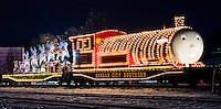 The KCS railroad Holiday Express train in Poteau Oklahoma.
