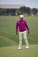 Fabian Gomez (ARG) lines up his putt on 10 during Round 2 of the Valero Texas Open, AT&amp;T Oaks Course, TPC San Antonio, San Antonio, Texas, USA. 4/20/2018.<br /> Picture: Golffile | Ken Murray<br /> <br /> <br /> All photo usage must carry mandatory copyright credit (&copy; Golffile | Ken Murray)