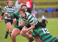 Action from the Wellington women's Fleur's Trophy club rugby union match between Old Boys University and Wainuiomata at Nairnville Park in Wellington, New Zealand on Saturday, 13 May 2017. Photo: Dave Lintott / lintottphoto.co.nz