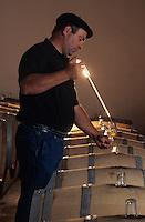 Europe/France/Aquitaine/64/Pyrénées-Atlantiques/Monein: AOC Jurançon - Charles Hours - Clos Uroulat dans son chai [Non destiné à un usage publicitaire - Not intended for an advertising use] [Non destiné à un usage publicitaire - Not intended for an advertising use]