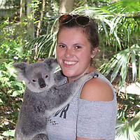 "Pictured: Chantelle Madonia clutches a koala bear in Australia<br /> Re: Chantelle Madonia from Cardiff, south Wales, has died while on a ""dream trip"" to Australia.<br /> Chantelle, 23 was spending a year travelling there after completing a master's degree in global governance at the University of South Wales.<br /> She died in her sleep from a heart condition, her family said.<br /> Her mother, Lisa Madonia, said: ""I am heartbroken, but it comforts me to know that Chantelle died living her dream.""<br /> Mrs Madonia, of Cardiff, said her daughter had been five months into a year-long trip to Australia and had been working as a waitress in Sydney to pay for her travels."