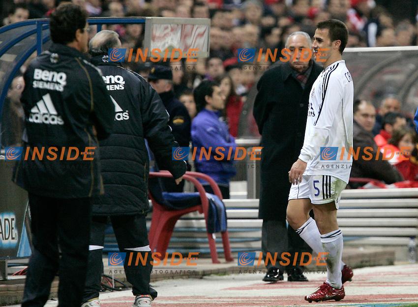Real Madrid's Fabio Cannavaro walks off the pitch after being sent off during Spain's La Liga match at Vicente Calderon stadium in Madrid, Saturday February 25, 2007. (INSIDE/ALTERPHOTOS/Alvaro Hernandez).
