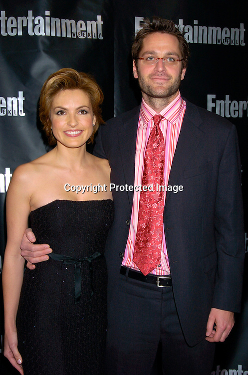 Mariska Hargitay and boyfriend Peter Hermann..at the Entertainment Weekly 10th annual Oscar Party on ..February 29, 2004 at Elaine's in New YOrk City. Photo by Robin Platzer, Twin Images