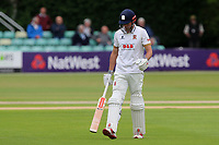 Alastair Cook of Essex leaves the field having been dismissed for 37 during Worcestershire CCC vs Essex CCC, Specsavers County Championship Division 1 Cricket at Blackfinch New Road on 11th May 2018