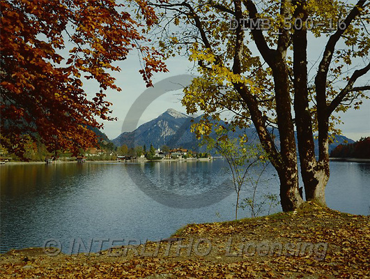 Gerhard, LANDSCAPES, photos, BY.Herbsttag am Walchensee m.Jochberg(DTMB500-16,#L#)