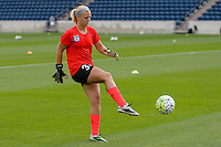 Chicago, IL - Saturday July 30, 2016: Brianna Smallidge prior to a regular season National Women's Soccer League (NWSL) match between the Chicago Red Stars and FC Kansas City at Toyota Park.