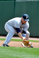 Pittsburgh Panthers infielder David Chester (24) during game against St.John's Red Storm at Jack Kaiser Stadium in Queens, New York;  May 7, 2011.  St. John's defeated Pittsburgh 7-0.  Photo By Tomasso DeRosa/Four Seam Images