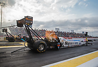 Apr 12, 2019; Baytown, TX, USA; NHRA top fuel driver Austin Prock during qualifying for the Springnationals at Houston Raceway Park. Mandatory Credit: Mark J. Rebilas-USA TODAY Sports