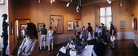 Europe/France/Midi-Pyrénées/81/Tarn/Albi : Le Musée Toulouse Lautrec à l'intérieur du Palais de la Berbie<br /> PHOTO D'ARCHIVES // ARCHIVAL IMAGES<br /> FRANCE 1990
