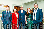Asdee Rovers Soccer Club Social :Attending the Asdee Rovers Soccer Club Social to celebrate their 40th anniversary at the Cliff House Hotel , Ballybunion on Saturday night last were Ciaran Dowd, Angela Dowd, Jamess O'Brien, Karina O'Driscoll & Joe O'Brien.