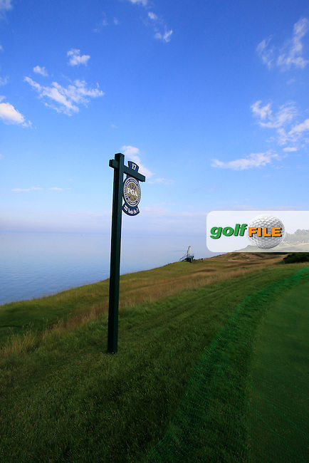The 17th tee during Monday's Practice Day of the 97th US PGA Championship 2015 held at Whistling Straits, Mosel, Kohler, Wisconsin, United States of America. 10/08/2015.<br /> Picture Eoin Clarke, www.golffile.ie