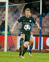 Kevin De Bruyne  during the Champions League Group  soccer match between SSC Napoli - Manchester City   at the Stadio San Paolo in Naples 01 nov 2017