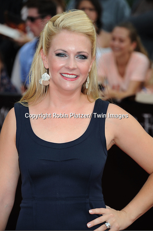 """Melissa Joan Hart arriving to the"""" Harry Potter and the Deathly Hallows- Part 2""""  North American Premiere on July 11, 2011 at Avery Fisher Hall in Lincoln Center in New York City."""