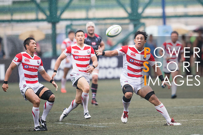 Yoshitaka Tokunaga of Japan (R) in action during the Asia Rugby Championship 2017 match between Hong Kong and Japan on May 13, 2017 in Hong Kong, China. Photo by Marcio Rodrigo Machado / Power Sport Images