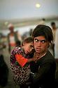 Syria 2014   <br /> August 10, a Yezidi girl with her sister in her arms on  the bridge of Pesh Kabur before entering  Iraq  <br /> Irak 2014 <br /> 10 aout, jeune fille Yezidi  avec sa soeur dans les bras sur le  pont de Pesh Kabur avant de penetrer en Irak