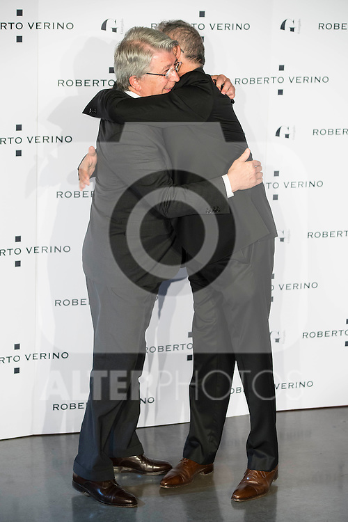 "Enrique Cerezo and Roberto Verino during the presentation of the new Spring-Summer collection ""Un Balcon al Mar"" of Roberto Verino at Platea in Madrid. March 16, 2016. (ALTERPHOTOS/Borja B.Hojas)"