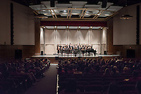 The Glee Club during Homecoming, Oct. 22, 2016, led by Desiree LaVertu. They performed in Thorne Hall for the Oxy community.<br /> (Photo by Marc Campos, Occidental College Photographer)