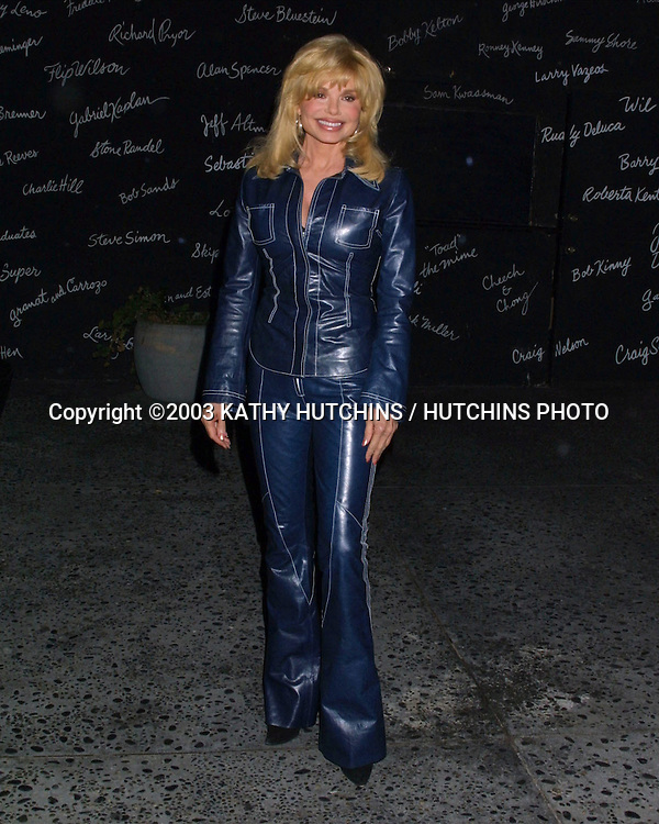 ©2003 KATHY HUTCHINS / HUTCHINS PHOTO.SMOTHERS BROTHERS PERFORMING .AT  THE COMEDY STORE.W HOLLYWOOD, CA.NOVEMBER 18, 2003..LONI ANDERSON