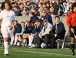 1 December 2006: North Carolina head coach Anson Dorrance (r) watches the game. The University of North Carolina Tarheels defeated the University of California Los Angeles Bruins 2-0 at SAS Stadium in Cary, North Carolina in an NCAA Division I Women's College Cup semifinal game.