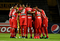 BOGOTA - COLOMBIA - 20 – 05 - 2017: Los jugadores de Patriotas F.C., durante partido de la fecha 19 entre Millonarios y Patriotas F.C., por la Liga Aguila I-2017, jugado en el estadio Nemesio Camacho El Campin de la ciudad de Bogota. / The players of Patriotas F.C., during a match of the date 19th between Millonarios and Patriotas F.C., for the Liga Aguila I-2017 played at the Nemesio Camacho El Campin Stadium in Bogota city, Photo: VizzorImage / Luis Ramirez / Staff.