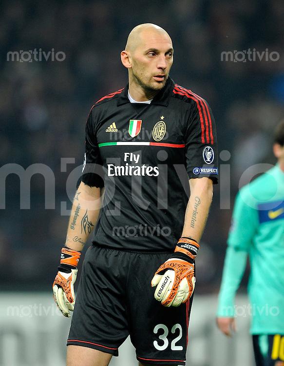 FUSSBALL   CHAMPIONS LEAGUE   SAISON 2011/2012     23.11.2011 AC Mailand - FC Barcelona Christian Abbiati (AC Mailand)