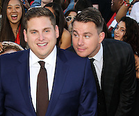 WESTWOOD, LOS ANGELES, CA, USA - JUNE 10: Jonah Hill, Channing Tatum at the World Premiere Of Columbia Pictures' '22 Jump Street' held at the Regency Village Theatre on June 10, 2014 in Westwood, Los Angeles, California, United States. (Photo by Xavier Collin/Celebrity Monitor)