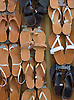 Leather sandals for sale in the Plaka neighborhood of Athens, Greece. Photo by Kevin J. Miyazaki/Redux