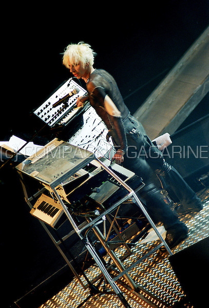 Concert of the Belgian dance act Praga Khan in the Ancienne Belgique (Belgium, 05/03/2002)