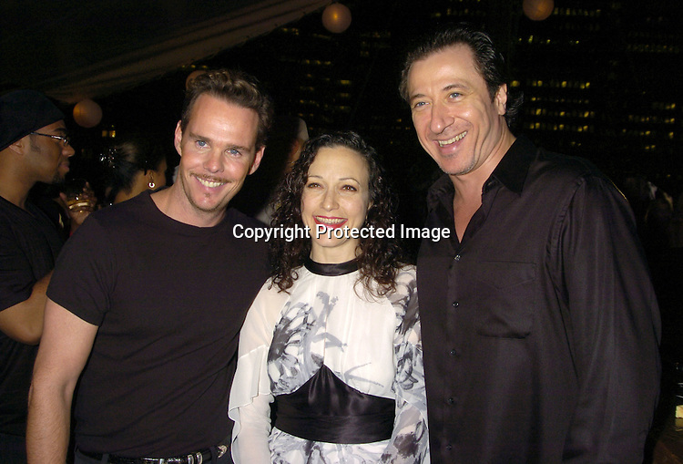 Kevin Dillon, Bebe Neuwirth and Federico Castellucio ..at the Hanes Perfect T Party hosted by Kevin Dillon on August 16, 2005 at The South Street Seaport onboard The Peking. ..Photo by Robin Platzer, Twin Images