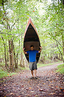 Banks Dixon of Froghollow outdoors on the Eno River