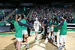 DENTON, TX - DECEMBER 5: University of North Texas Mean Green Women's Basketball v Houston Huskies at Super Pit - North Texas Coliseum  in Denton on December 5, 2018 in Denton, Texas. Photo Rick Yeatts
