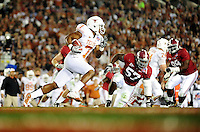 Jan 7, 2010; Pasadena, CA, USA; Texas Longhorns wide receiver John Chiles (7) runs with the ball during the second quarter of the 2010 BCS national championship game against the Alabama Crimson Tide at the Rose Bowl.  Mandatory Credit: Mark J. Rebilas-