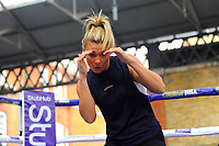 Shannon Courtenay during a Public Workout at Old Spitalfields Market on 12th April 2019
