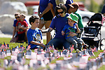 April Vlatch and her children Nathaniel and Landon participate in the 5th annual Veterans Suicide Awareness March, hosted by the Western Nevada College Veterans Resource Center, in Carson City, Nev., on Saturday, May 4, 2019. <br /> Photo by Cathleen Allison/Nevada Momentum