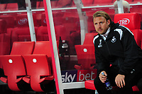 Bjorn Hamberg, assistant coach for Swansea during the Sky Bet Championship match between Stoke City and Swansea City at the Bet 365 Stadium in Stoke on Trent, England, UK. Tuesday 18 September 2018