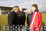 Rory Hickey Referee Sean Walsh Chairman Munster Council Gneeveguilla v  Saint James in their AIB  Intermediate club Football Championship Semi Final at Mallow GAA Grounds on Sunday 30th January 2011.