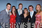 ...TY: Modelling in the Mercy Mounthawk TY Fashion Show were 4th year students from the school in the school gym on Wednesday. L-r: David Smith, Emma Nolan, Philip Scott, Sinead Boyle, John Prendergast and Grace Quinlan.............   Copyright Kerry's Eye 2008