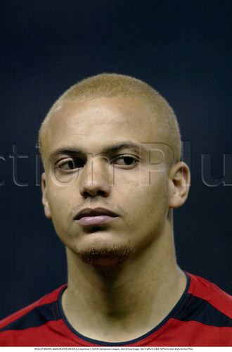 WESLEY BROWN, MANCHESTER UNITED 2 v Juventus 1, UEFA Champions League, 2nd Group Stage, Old Trafford 030219 Photo:Glyn Kirk/Action Plus...soccer football 2003.player premier man utd u.wes portrait