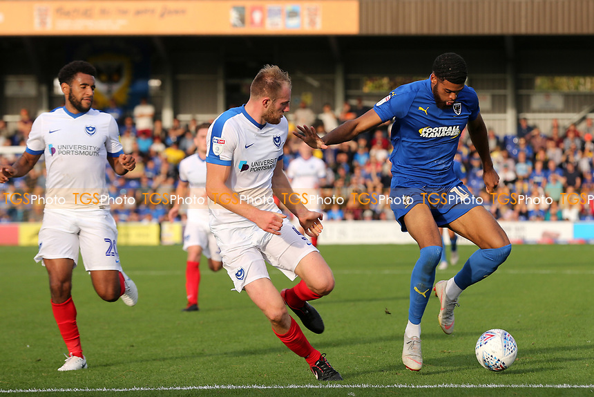 Jake Jervis of AFC Wimbledon in possession during AFC Wimbledon vs Portsmouth, Sky Bet EFL League 1 Football at the Cherry Red Records Stadium on 13th October 2018