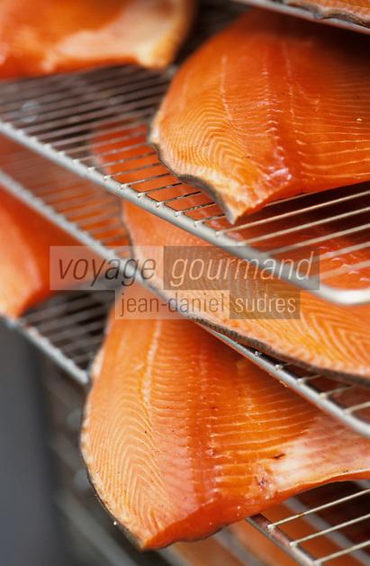 Europe/France/Bretagne/56/Morbihan/Quiberon: Saumon fumé dans le fumoir de Michel Lucas 10 quai de l'Océan