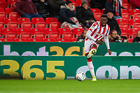 12th February 2020; Bet365 Stadium, Stoke, Staffordshire, England; English Championship Football, Stoke City versus Preston North End; Bruno Martins Indi of Stoke City crosses the ball - Strictly Editorial Use Only. No use with unauthorized audio, video, data, fixture lists, club/league logos or 'live' services. Online in-match use limited to 120 images, no video emulation. No use in betting, games or single club/league/player publications