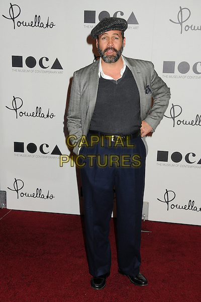 Billy Zane.Pomellato Celebrates Rodeo Drive Boutique Opening Hosted By Tilda Swinton, Benefiting MOCA held at Pomellato Boutique, Beverly Hills, California, USA..January 30th, 2012.full length jacket top jumper sweater trousers high waist hands in pockets  on hip black grey gray beard facial hair hat cap.CAP/ADM/BP.©Byron Purvis/AdMedia/Capital Pictures.