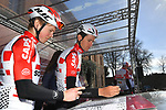 Tiesj Benoot (BEL) Lotto-Soudal at sign on in Fortezza Medicea before the start of Strade Bianche 2019 running 184km from Siena to Siena, held over the white gravel roads of Tuscany, Italy. 9th March 2019.<br /> Picture: LaPresse/Gian Matteo D'Alberto | Cyclefile<br /> <br /> <br /> All photos usage must carry mandatory copyright credit (© Cyclefile | LaPresse/Gian Matteo D'Alberto)