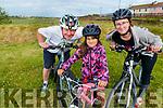 Three generations of cyclists, Brian Neenan with his granddaughter, Tara Sylva and Claire Neenan.