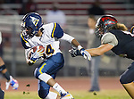Lawndale, CA 10/07/16 - Antonio Holley (Santa Monica #34) and Brandon Turay (Lawndale #42) in action during the CIF Bay League game between Santa Monica and Lawndale.