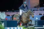 Vincent Bartin of France riding on Vintage Sologne competes during the EEM Trophy, part of the Longines Masters of Hong Kong on 10 February 2017 at the Asia World Expo in Hong Kong, China. Photo by Juan Serrano / Power Sport Images