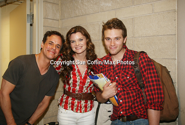 Young and Restless' Christian LeBlanc poses with BB's Heather Tom and As The World Turns' Van Hansis at Soapstar Spectacular presented by KDKA-TV stars Y&R, BB, GL and ATWT on June 13, 2010 at the Petersen Events Center, University of Pittsburgh, PA and benefited the Susan G. Komen for the Cure Pittsburgh Affiliate. (Photo by Sue Coflin/Max Photos)
