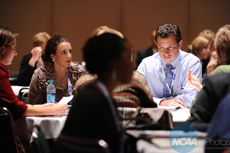 12 JAN 2012:  Education session entitled New NCAA Division I Athletics Certification Program held during the 2012 NCAA Convention held at the JW Marriott and Indianapolis Convention Center in Indianapolis, IN.  Joshua Duplechian/NCAA Photos