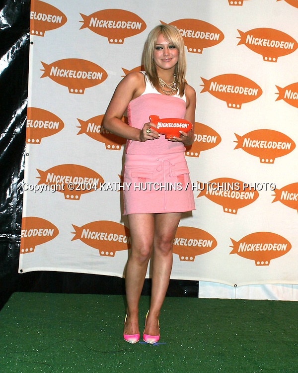 ©2004 KATHY HUTCHINS / HUTCHINS PHOTO.17TH NICKELODEON KIDS CHOICE AWARDS.WESTWOOD, CA  .APRIL 3, 2004..HILIARY DUFF